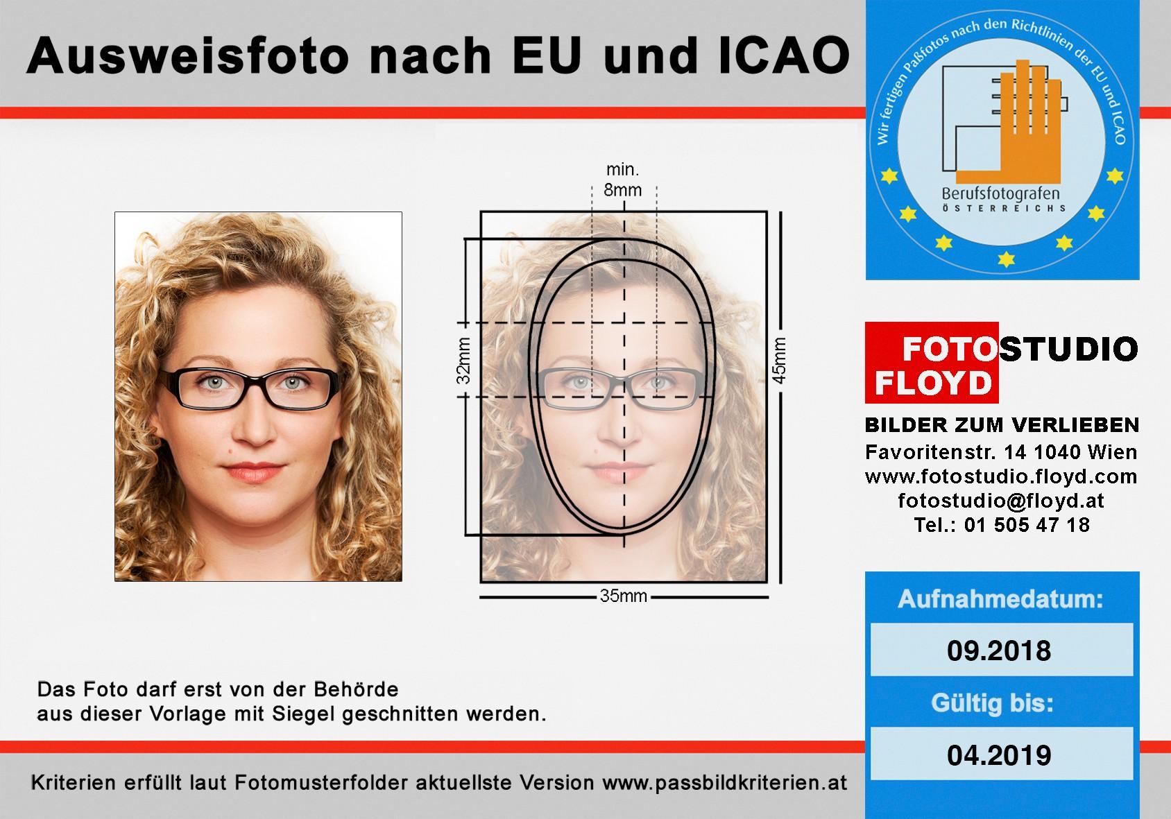 Passbilder nach EU-Richtlinie